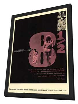 8 1/2 - 11 x 17 Movie Poster - Style B - in Deluxe Wood Frame