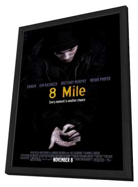 8 Mile - 27 x 40 Movie Poster - Style A - in Deluxe Wood Frame