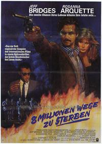 8 Million Ways to Die - 11 x 17 Movie Poster - German Style A
