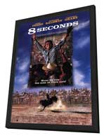 8 Seconds - 11 x 17 Movie Poster - Style A - in Deluxe Wood Frame
