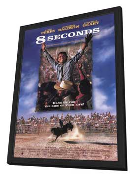8 Seconds - 27 x 40 Movie Poster - Style B - in Deluxe Wood Frame