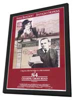 84 Charing Cross Road - 11 x 17 Movie Poster - Style A - in Deluxe Wood Frame
