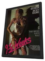 9 1/2 Weeks - 27 x 40 Movie Poster - Style B - in Deluxe Wood Frame