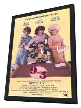 9 to 5 - 11 x 17 Movie Poster - Style A - in Deluxe Wood Frame