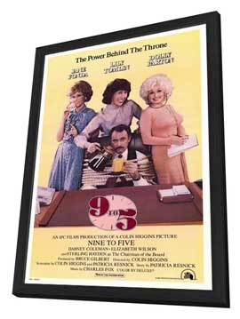 9 to 5 - 27 x 40 Movie Poster - Style A - in Deluxe Wood Frame