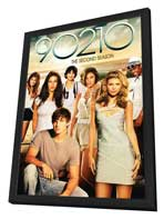 90210 (TV) - 11 x 17 TV Poster - Style Q - in Deluxe Wood Frame