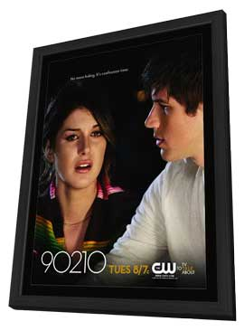 90210 (TV) - 11 x 17 Movie Poster - Style S - in Deluxe Wood Frame