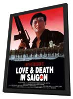 A Better Tomorrow III: Love and Death in Saigon - 11 x 17 Movie Poster - Hong Kong Style A - in Deluxe Wood Frame