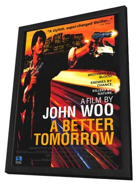 A Better Tomorrow - 27 x 40 Movie Poster - Style A - in Deluxe Wood Frame