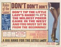 A Big Hand for the Little Lady - 11 x 14 Movie Poster - Style A