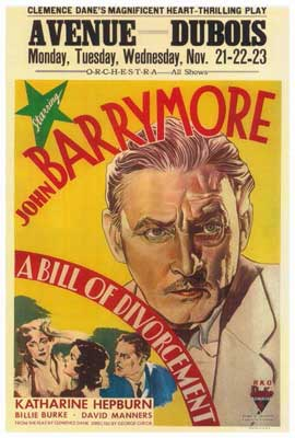 A Bill of Divorcement - 27 x 40 Movie Poster - Style A