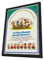 A Boy Named Charlie Brown - 27 x 40 Movie Poster - Style A - in Deluxe Wood Frame
