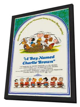A Boy Named Charlie Brown - 11 x 17 Movie Poster - Style A - in Deluxe Wood Frame