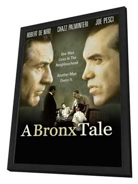 A Bronx Tale - 27 x 40 Movie Poster - Style C - in Deluxe Wood Frame