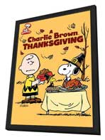 A Charlie Brown Thanksgiving - 11 x 17 Movie Poster - Style A - in Deluxe Wood Frame