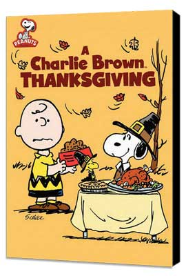 A Charlie Brown Thanksgiving - 11 x 17 Movie Poster - Style A - Museum Wrapped Canvas