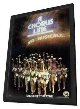 A Chorus Line (Brodway) - 14 x 22 Poster - Style A - in Deluxe Wood Frame