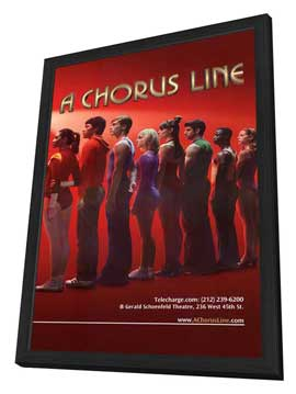 A Chorus Line (Broadway) - 11 x 17 Poster - Style A - in Deluxe Wood Frame