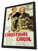 A Christmas Carol - 27 x 40 Movie Poster - Style A - in Deluxe Wood Frame