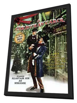 A Christmas Carol - 27 x 40 Movie Poster - Style B - in Deluxe Wood Frame