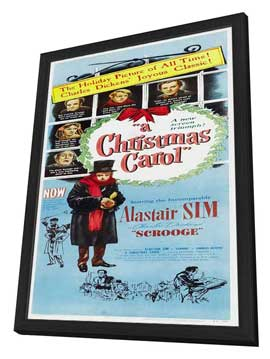 A Christmas Carol - 14 x 36 Movie Poster - Insert Style A - in Deluxe Wood Frame