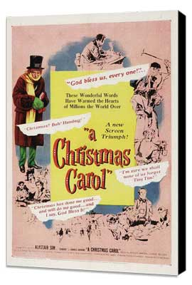 A Christmas Carol - 11 x 17 Movie Poster - Style C - Museum Wrapped Canvas