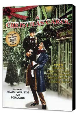 A Christmas Carol - 27 x 40 Movie Poster - Style B - Museum Wrapped Canvas