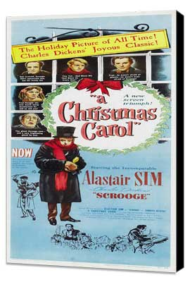 A Christmas Carol - 14 x 36 Movie Poster - Insert Style A - Museum Wrapped Canvas