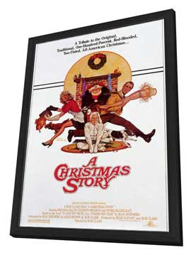 A Christmas Story - 11 x 17 Movie Poster - Style B - in Deluxe Wood Frame
