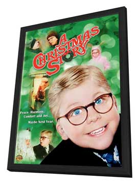 A Christmas Story - 11 x 17 Movie Poster - Style C - in Deluxe Wood Frame