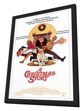 A Christmas Story - 27 x 40 Movie Poster - Style B - in Deluxe Wood Frame