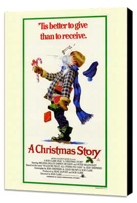 A Christmas Story - 11 x 17 Movie Poster - Style A - Museum Wrapped Canvas