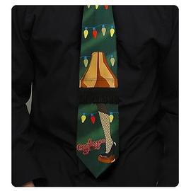 A Christmas Story - Green String Lights Neck Tie