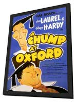 A Chump at Oxford - 11 x 17 Movie Poster - Style A - in Deluxe Wood Frame