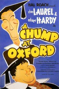 A Chump at Oxford - 43 x 62 Movie Poster - Bus Shelter Style A