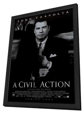 A Civil Action - 11 x 17 Movie Poster - Style A - in Deluxe Wood Frame