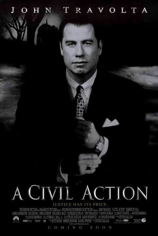 the civil action For my experiential activity, i watched the movie, a civil action (1998), which is a fact based drama starring john travolta as personal injury lawyer, jan.