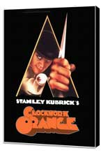 A Clockwork Orange - 27 x 40 Movie Poster - Style E - Museum Wrapped Canvas
