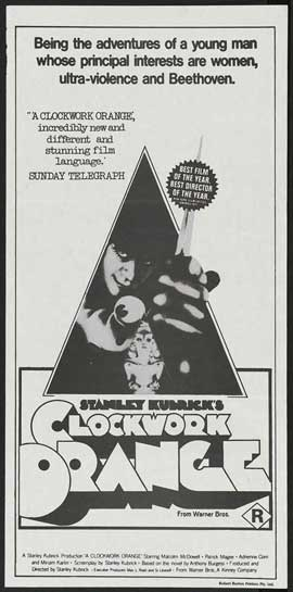 A Clockwork Orange - 11 x 17 Movie Poster - Australian Style A