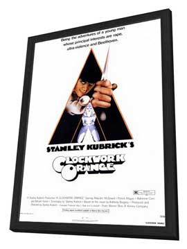 A Clockwork Orange - 11 x 17 Movie Poster - Style A - in Deluxe Wood Frame