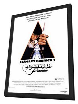A Clockwork Orange - 27 x 40 Movie Poster - Style A - in Deluxe Wood Frame