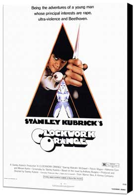 A Clockwork Orange - 11 x 17 Movie Poster - Style A - Museum Wrapped Canvas