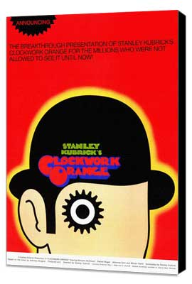 A Clockwork Orange - 11 x 17 Movie Poster - Style D - Museum Wrapped Canvas