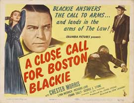 A Close Call for Boston Blackie - 11 x 17 Movie Poster - Style A
