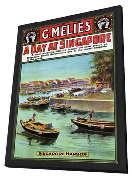 A Day at Singapore - 11 x 17 Movie Poster - Style A - in Deluxe Wood Frame