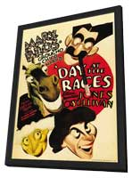 A Day at the Races - 11 x 17 Movie Poster - Style G - in Deluxe Wood Frame