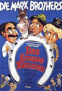 A Day at the Races - 11 x 17 Movie Poster - German Style A