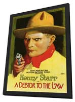 A Debtor to the Law - 11 x 17 Movie Poster - Style A - in Deluxe Wood Frame