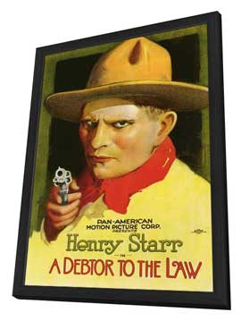 A Debtor to the Law - 27 x 40 Movie Poster - Style A - in Deluxe Wood Frame