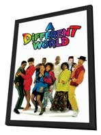 A Different World (TV) - 11 x 17 TV Poster - Style A - in Deluxe Wood Frame